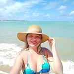 Praia de Sonho Verde na maré alta, lugar lindo.
