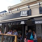 Front entrance of Una Pizza and Wine