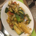 Deliciousness!  Sauté veggies were cooked to perfection and so flavorful!