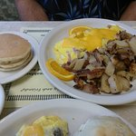 Ham And Cheese Omelet, Home Fries, Silver Dollar Pancakes