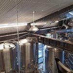 brew tanks larger section at Big Bear Lake Brewing company
