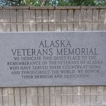 Alaska War Veterans Memorial, Milepost 147.1, Parks Highway. A special place.