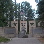 Alaska War Veterans Memorial, Milepost 147.1, Parks Highway. We honor you.