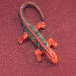 Wall Decor, Red Gecko