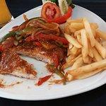 Schnitzel with paprika sauce