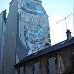 Foto van Paris dans la tête Mural
