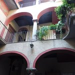 The balconies above Idea Dolce in the inner courtyard