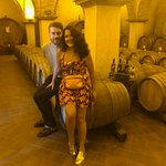 Dummies in a real Italian wine cellar.