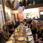 In the restaurant for a 70th Birthday Celebration