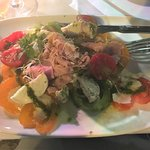 The heirloom tomato salad, excellent