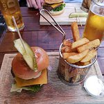 Fantastic burger and pretty presentation. Well done!