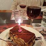 The Tiramisu Birthday cake gorgeous