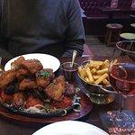 Mixed Grill, fish pakora and masala chips