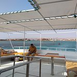 Relax in the shade on Pegasus boat