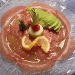 Thunfisch Carpaccio mit Avocado, Restaurant Spycher, Zermatt