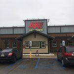 Front Entrance On A Rainy Sunday At Logan's Roadhouse Holland, MI