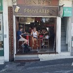 When you visit Santorini,  you have to find Lucky's for the best Gryo, it's in Thira.