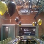 Private function room . I was able to decorate for the birthday meal