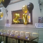 My sons 21st . private function room