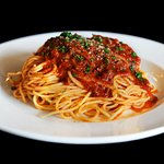 Traditional Spaghetti with Homemade Rich Meat Sauce