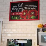 The owners have used the Poppy theme very creatively in signage and art work