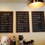 Coffee choices, though they can customize as you prefer