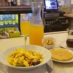 Sunday Brunch with a carafe of mimosa