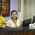 A welcoming smile from receptionist Lyn.