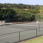 Tennis courts at the lodge