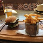Chips perfectly cooked, burger delicious, well presented and great value