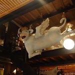 Vue de la vache depuis le bar