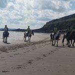 Riding on Pendine Sands
