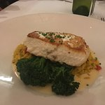Halibut steak, beautifully cooked