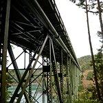 Hiking up to the bridge