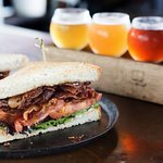 Sandwiches and beer flights