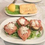 Parma Ham Wrapped Mushrooms & Saganaki