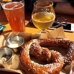 Pretzel and beers