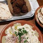 Falafel + Baba Ghanoush (Grilled aubergine purée, tahini, lemon juice)
