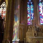 Sun on stained glass, kaleidoscope