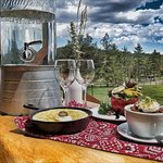Outdoor dining options allow you to get closer to nature