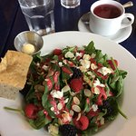 Spinach pecans and strawberry salad