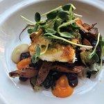 Rockfish. Carrot Puree. Autumn Veggies