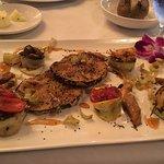 Vegan platter - mushrooms, eggplant, zuc/sq, celery, carrots, & tomatoes