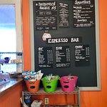 The coffee and drinks menu
