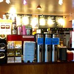 Inside the coffee shop