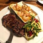 steak with shrimp