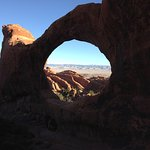 Double O Arch, backside