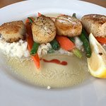 Scallops on Crab Risotto