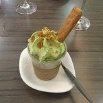 Mousse au chocolat pistache
