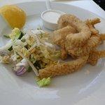 calamari with asian salad entree
